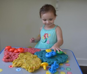 Play Dough and Pegs