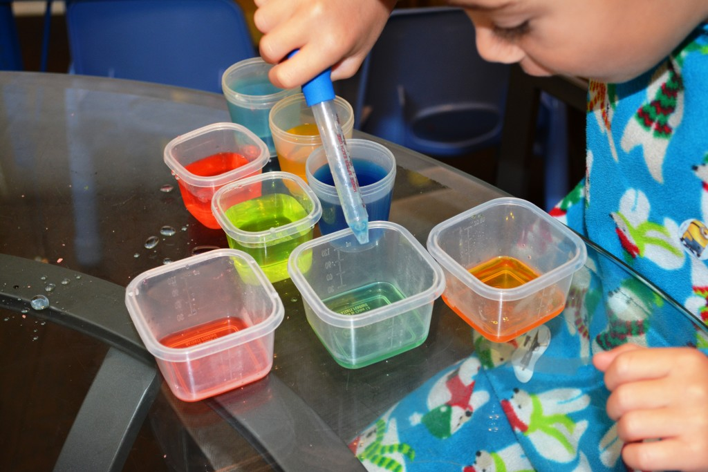 Color Mixing With Eyedroppers